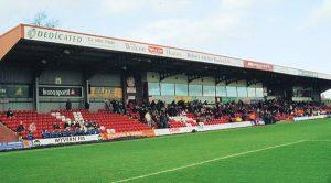 The Main Stand at Aggborough