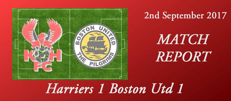 02-09-17 – Report – Harriers 1 Boston Utd 1