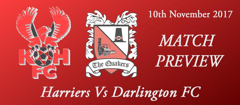 10-11-17 - Preview - Harriers Vs Darlington FC