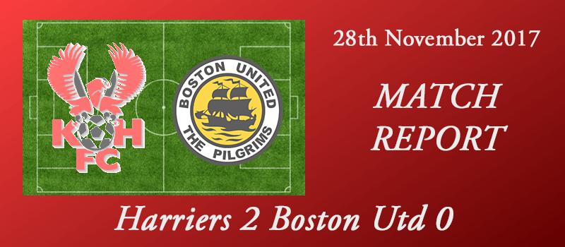 28-11-17 – Report – Harriers  2 Boston Utd 0
