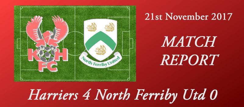 21-11-17 – Report – Harriers 4 North Ferriby Utd 0