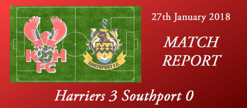 27-01-18 - Report - Harriers 3 Southport 0