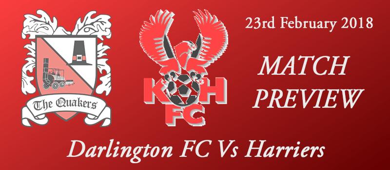 23-02-18 - Preview - Darlington FC Vs Harriers