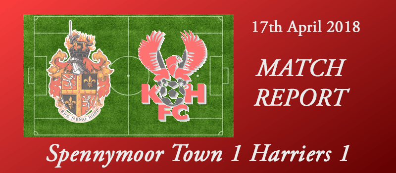 17-04-18 – Report – Spennymoor Town 1 Harriers 1