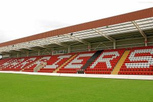 The East Stand at Aggborough
