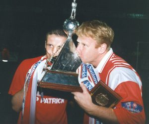 The Harriers win the Vauxhall Conference championship in 1994