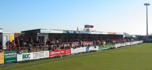 The old East Stand (Cowshed) at Aggborough