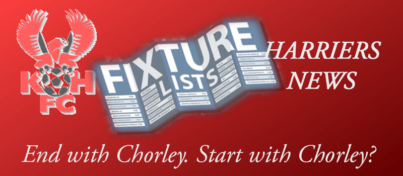 End with Chorley. Start with Chorley!