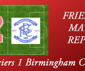 26-07-17 – Harriers 1 Birmingham City 1