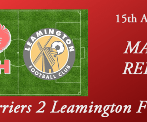 15-08-17 – Report – Harriers 2 Leamington FC 0