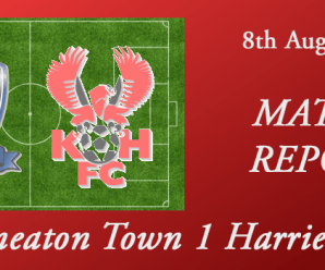 08-08-17 – Report – Nuneaton Town 1 Harriers 0