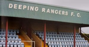 The old Highfield Road seating at Deeping Rangers