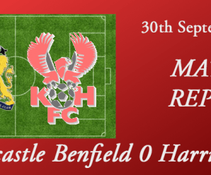 30-09-17 – Report – FA Cup 3rd Qual Rd – Newcastle Benfield 0 Harriers 1
