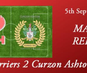 05-09-17 – Report – Harriers 2 Curzon Ashton 2