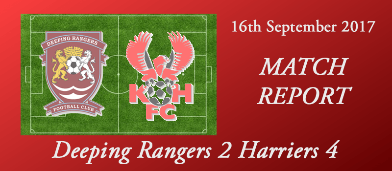 16-09-17 - Report - FA Cup 2nd Qual Rd - Deeping Rangers 2 Harriers 4
