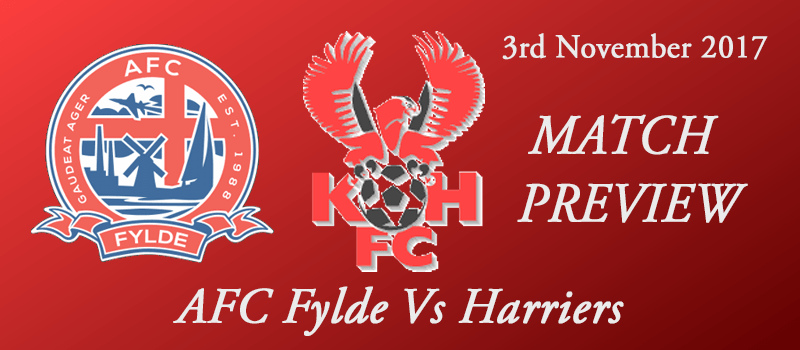 Preview - 03-11-17 - FA Cup 1st rd - AFC Fylde Vs Harriers