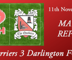11-11-17 – Report – Harriers 3 Darlington FC 3