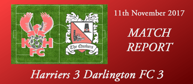 11-11-17 - Report - Harriers 3 Darlington FC 3