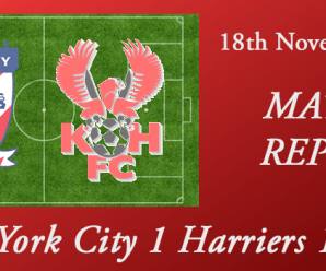18-11-17 – Report – York City 1 Harriers 1