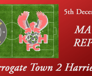 05-12-17 – Report – Harrogate Town 2 Harriers 2