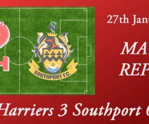 27-01-18 – Report – Harriers 3 Southport 0