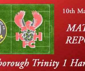 10-03-18 – Report – Gainsborough Trinity 1 Harriers 0