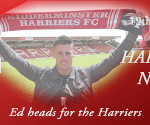 19-06-18 – News – Ed heads for the Harriers