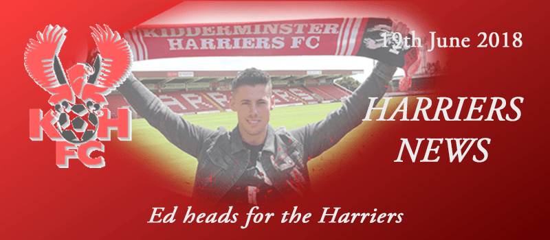 19-06-18 - News - Ed heads for the Harriers