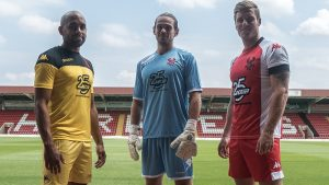 The new Harriers kit for the 2018-19 season