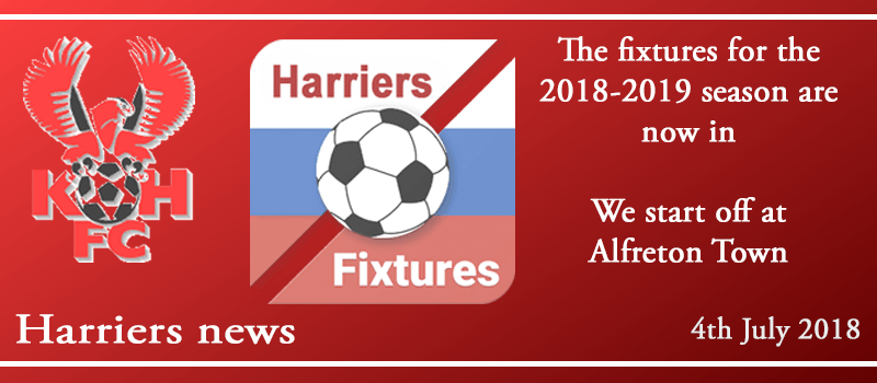 04-07-18 - News - The fixtures for the 2018-2019 season are now in