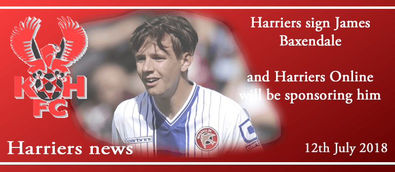 12-07-18 - News - Harriers sign James Baxendale