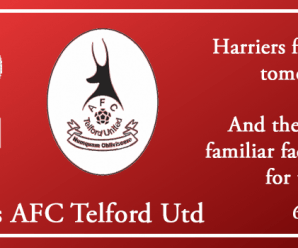 06-08-18 – Preview – Harriers Vs AFC Telford Utd