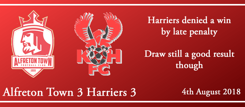 04-08-18 - Report - Alfreton Town 3 Harriers 3