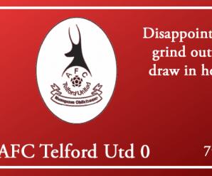07-08-18 – Report – Harriers 0 AFC Telford Utd 0