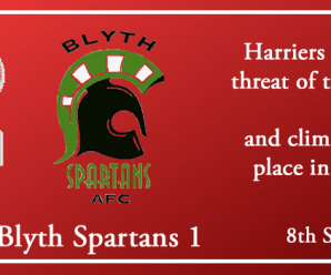 08-09-18 – Report – Kidderminster Harriers 3 Blyth Spartans 1