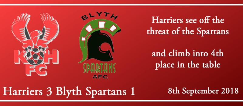 08-09-18 - Report - Kidderminster Harriers 3 Blyth Spartans 1