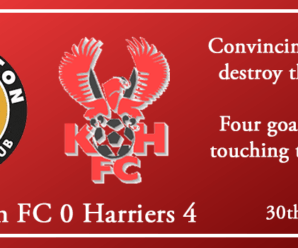 30-10-18 – Report – Leamington FC 0 Kidderminster Harriers 4