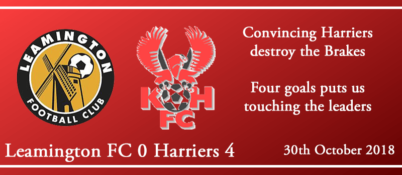 30-10-18 - Report - Leamington FC 0 Kidderminster Harriers 4