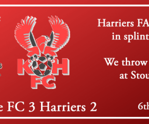 06-10-18 – Report – FA Cup 3rd Qual Rd – Stourbridge FC 3 Kidderminster Harriers 2
