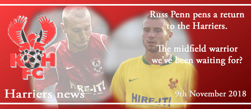 09-11-18 - News - Russ Penn pens a return to the Harriers