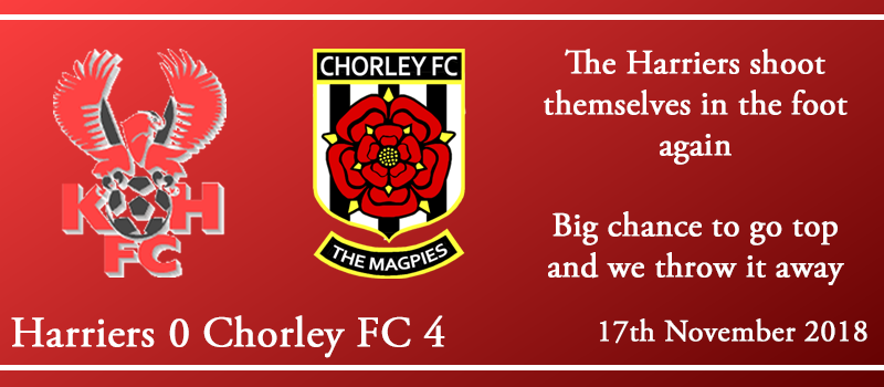 17-11-18 – Report – Kidderminster Harriers 0 Chorley FC 4