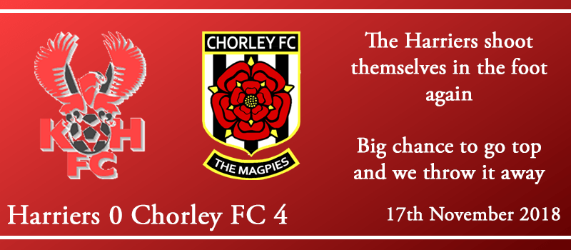 17-11-18 - Report - Kidderminster Harriers 0 Chorley FC 4