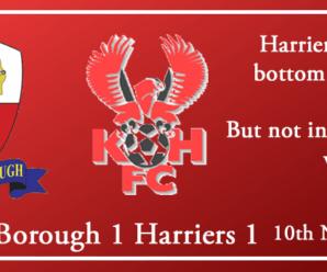 10-11-18 – Report – Nuneaton Borough 1 Kidderminster Harriers 1