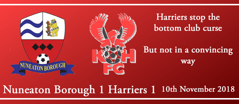10-11-18 - Report - Nuneaton Borough 1 Kidderminster Harriers 1
