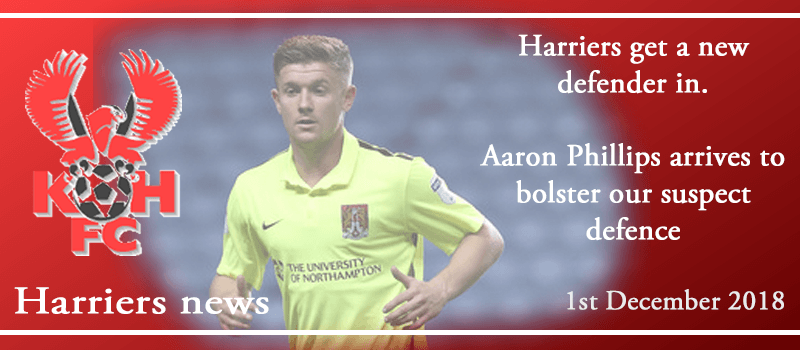 01-12-18 - News - Harriers get a new defender in