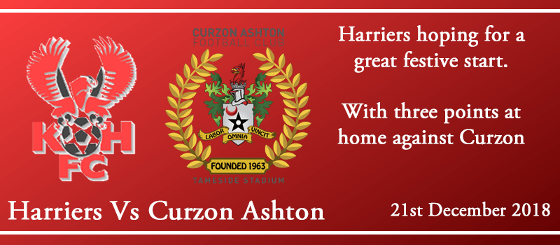 21-12-18 - Preview - Kidderminster Harriers Vs Curzon Ashton