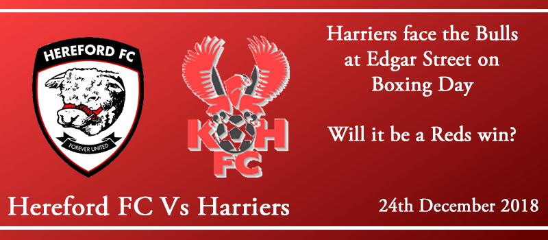 24-12-18 - Preview - Hereford FC Vs Kidderminster Harriers