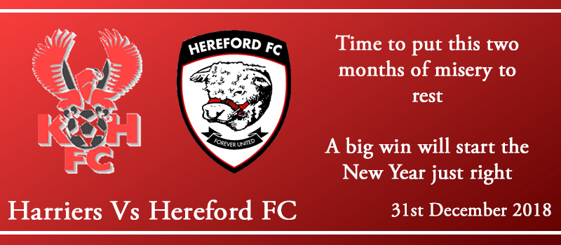 31-12-18 - Preview - Kidderminster Harriers Vs Hereford FC