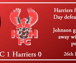 26-12-18 – Report – Hereford FC 1 Kidderminster Harriers 0