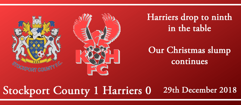 29-12-18 – Report – Stockport County 1 Kidderminster Harriers 0